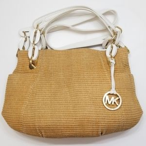 Michael Kors Lilly Shoulderbag Straw Natural/White
